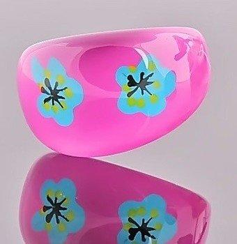 pierścień FLORAL różowy