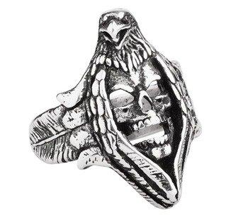 pierścień ORZEŁ + CZASZKA
