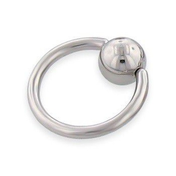 KółKO ZAMYKANE KULKą CAPTIVE BEAD RING grubość 1,6mm średnica kulki 4mm (BCR)