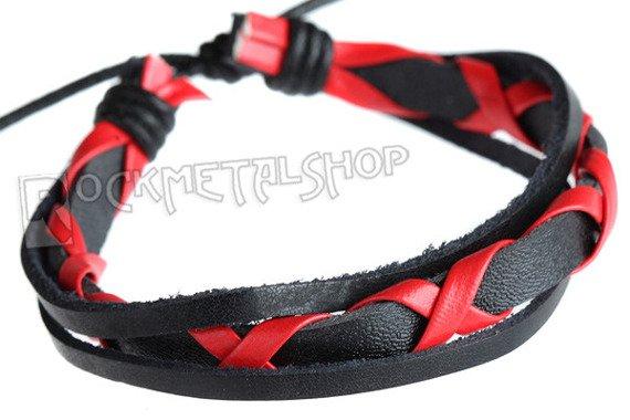 bransoletka czarno-czerwona
