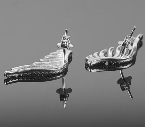 kolczyk WING SILVER, srebro 925 para
