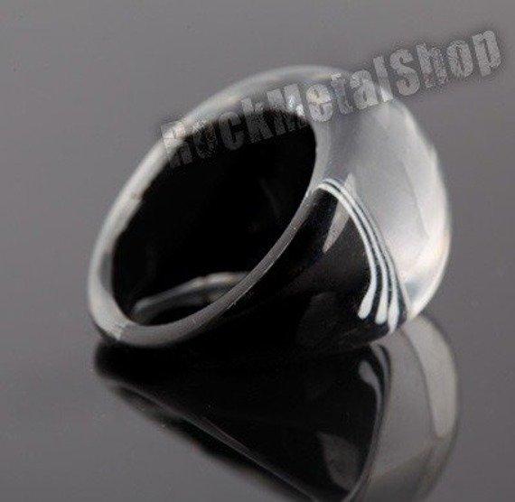 pierścień PATTERN czarny