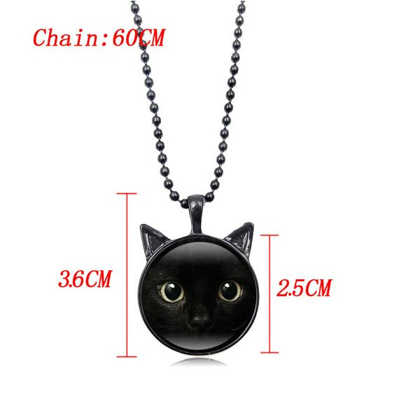 wisiorek CAT BLACK