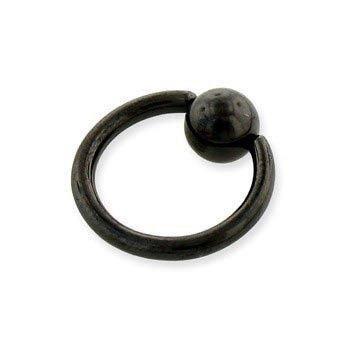 KółKO ZAMYKANE KULKą CAPTIVE BEAD RING BLACK LINE grubość 1,6mm średnica kulki 6mm