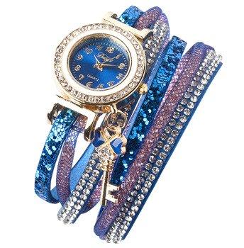 bransoletka/zegarek CYRKONIE STARDUST BLUE