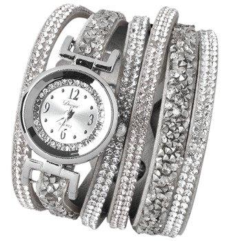 bransoletka/zegarek LUXURY SILVER