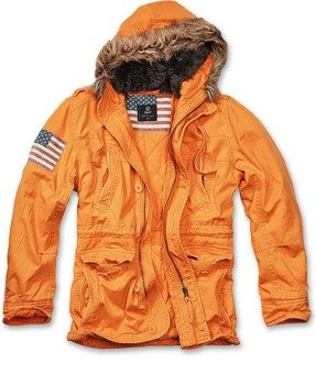 kurtka z kapturem VINTAGE EXPLORER STARS orange