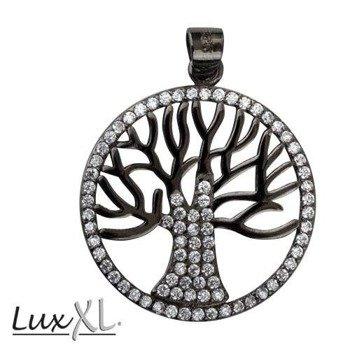 wisior/zawieszka TREE OF LIFE BLACK, srebro 925