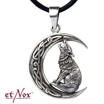zawieszka HOWLING WOLF IN MOON, srebro 925