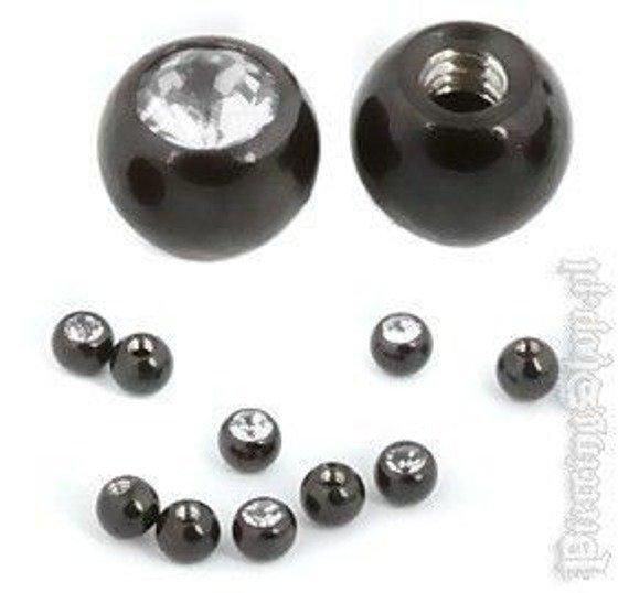NAKRęTKA KULKA BLACK LINE oczko crystal śr. 2,5mm gwint 1,2mm